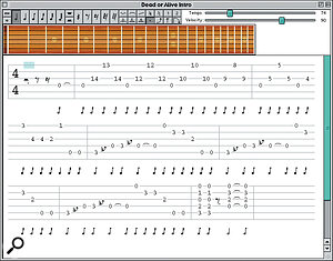 Input and play back tablature with GuitarTab — and you even get five solos to start with.