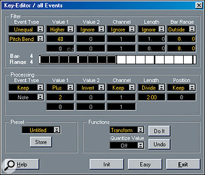 Screen 6: The Bar Range options in Expert Mode allow you to filter (and hence process) only data that occurs in a selected area of each bar — here, for example, in the second half.