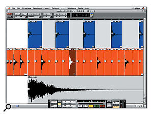 If you want to change the patterns themselves, as opposed to requantising them or changing the tempo, you have to move individual drum hits around in the tracks' edit windows.