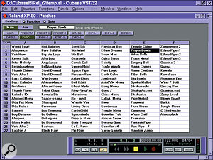 You can even get patch names from ROM expansion boards into the Studio Module.