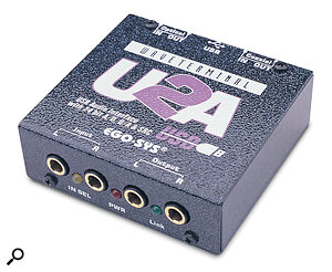 Ego Sys's U2A gives reliable stereo USB audio interfacing plus sample‑rate conversion and co‑axial‑to‑optical S/PDIF conversion facilities for £230.