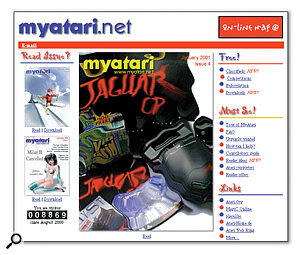 Hot off the e‑presses: the front page of the most recent issue of new online magazine MyAtari.