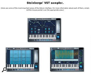 A sneak preview of Steinberg's HALion VST sampler from the Steinberg web site.