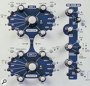 A6 Andromeda Oscillator controls.