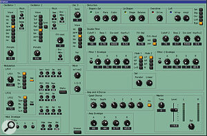 The comprehensively equipped three‑oscillator analogue synth emulation 'Uranus'.