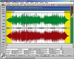The Track Editor lets you add fades, change audio level, and add extra CD track indices during long medleys.