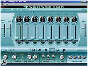 The TC8 recorder/playback engine loaded with a Road To Fame challenge.