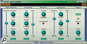 PSP's new MixTreble provides a wide variety of top‑end treatments for enhancing a mix.