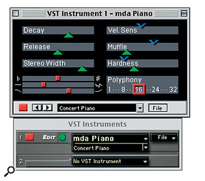 The freeware MDA Piano plug‑in is a must for fans of '80s‑style digital pianos.