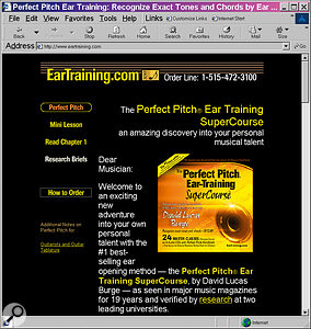EarTraining.com's CD/cassette‑based training courses are more camp than a field at Glastonbury — but there is a course to help you develop perfect pitch as well as relative pitch.