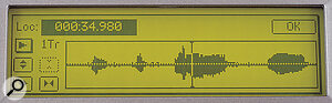 While the D12's LCD may not be a touchscreen, it's at least large enough for a nice waveform display.