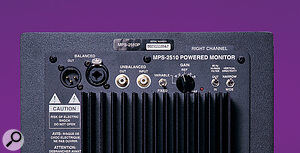 The balanced and unbalanced inputs of the MPS2510 each have linked outputs for directly feeding a separate subwoofer unit.