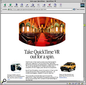 Apple's QuickTime VR audio/video‑playback technology allows virtual tours of any location to be created, such as Paul White's home studio (below, left) on the SOS web site.