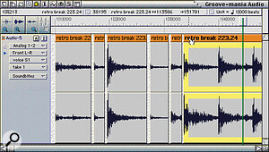 While there's no dedicated audio groove‑extraction in Digital Performer, its editing provides a workaround.