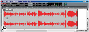 Careful selection and editing of audio is vital if tempo matching and groove extraction are to be successful.