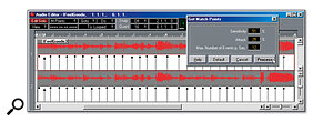 The algorithm which assigns Match Points in Cubase needs to be carefully set up to produce useful results. However, the points can be tweaked manually if required.