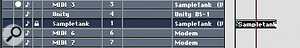 Tempo‑locking a MIDI track allows its parts to remain at the same tempo regardless of changes in Master track tempo.