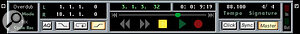 When the Master button is engaged on the transport bar, Cubase takes its tempo from the Master track.