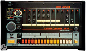The limited bandwidth of older drum machines can make real instruments sound huge in contrast.
