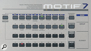 Access to the Motif's vast array of sounds is via these selection buttons, helpfully arranged into categories.