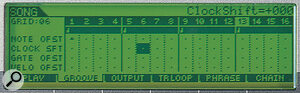 Changing the feel of sequences with the 'Grid Groove' facility.