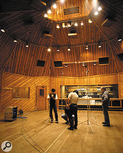 Here you can see Sony engineers sampling the reverberation characteristics of two famous acoustic spaces for their DRE S777 processor. Once the sampling has been completed, the DRE S777 can be used in the studio for adding these natural ambiences to dry multitrack recordings.