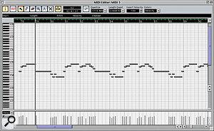 Nuendo's MIDI Editor is similar to the piano‑roll editor found in Cubase.
