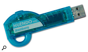 Nuendo employs a USB dongle — a convenient form of copy protection, but one which excludes owners of older Macs