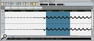 Double‑clicking on an audio Event opens up the Sample Editor, which allows you to do waveform drawing and other drastic forms of editing.