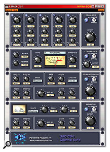 The CS1 Channel Strip incorporates an EX1 five‑band parametric EQ and compressor, DM1 Delay Modulator, and RS1 Reflection Engine, all of which can be launched separately.