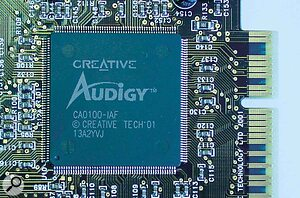 The Audigy card is based around a new chip designed by Creative Labs subsidiary Emu.