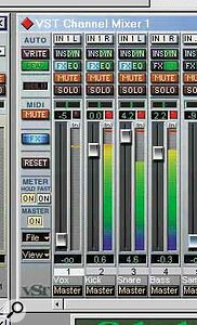 Holding down Shift while dragging the faders in the VST Channel Mixer allows you to make fine adjustments more easily.
