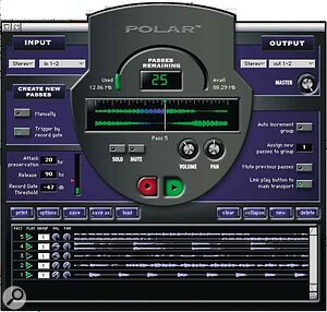 POLAR, the RAM‑based cyclical audio recording tool, is unique to Digital Performer.