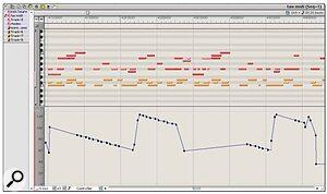 The MIDI Graphic Editor can edit multiple MIDI tracks within a single window.
