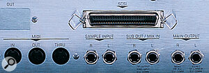 The ESI samplers can transfer data to a computer over both MIDI and SCSI connections. However, to take advantage of this facility, you need to make sure you have a compatible software sample‑editing package.