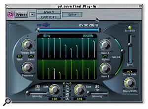 Emagic's new EVOC22 virtual instrument.