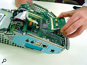 Fit the new card to the internal assembly...