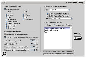 DP3's Automation Setup window.
