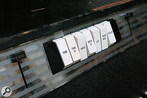 Electra‑piano voices, selected with rocker switches, could be combined to create new sounds.