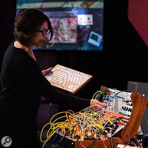 Suzanne Ciani giving Buchla demo.