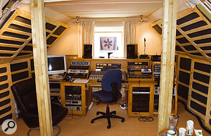 ...and the revamped control room. The work on the acoustics exceeded our recommendations -- and proved that if you put in enough thought and planning, acoustic treatment can look as good as it sounds!