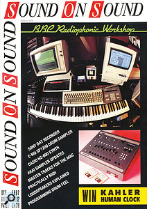 October 1987: featuring the now‑classic Emu SP‑1200, and the first of many features about the then still‑extant BBC Radiophonic Workshop.