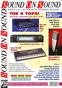 April 1994: a high point for Oktava and a new record for products sharing an SOS cover.