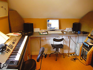 The control room and live room at The Hatch Studio before the improvement works seem rather empty after seeing the new setup.