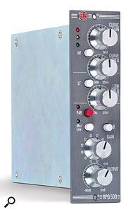 The AEA RPQ500 preamp offers bags of clean gain, as well as some useful tone‑shaping facilities.