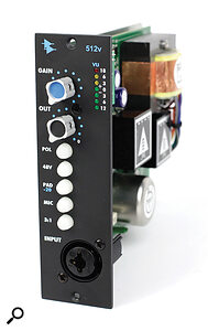 The API 512v is just one of the many 'console' preamps available for the 500‑series. In this model, API added an output level control for the first time, making it much easier to drive the preamp in search of added character.