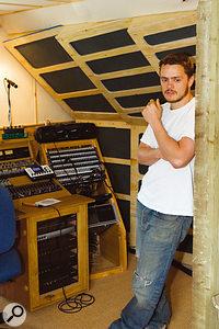 Hugh, relaxing in the new studio.