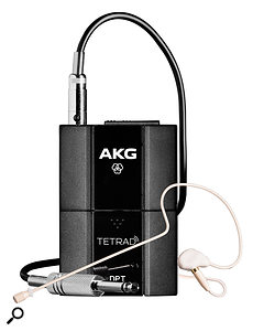 The DPT beltpack transmitter comes with an AKG C111 ear-hook vocal microphone.