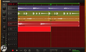 The new Recorder is a  basic DAW.