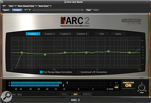 New in version 2 is the option to apply a user-defined EQ curve to the monitor correction.